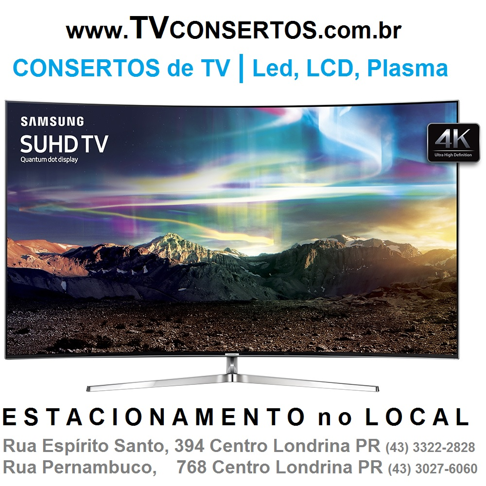CONSERTOS de TV LED, LCD, PLASMA, K4, 3D, SMART TV